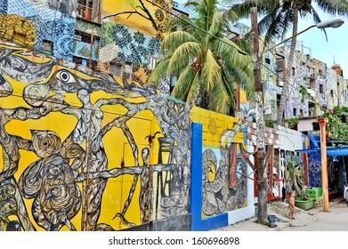 HAVANA, CUBA, MAY 11, 2009. Graffiti and wall paintings in Havana, on May 11th, 2009.