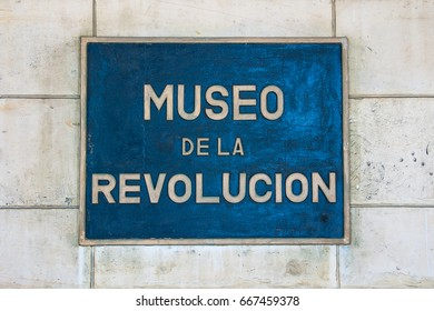 HAVANA, CUBA - MAY 2008: The landmark Museum of the Revolution (Museo de la Revolucion) is housed in the former Presidential Palace in the Cuban capital.