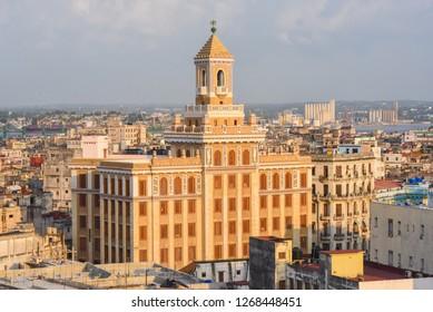 HAVANA, CUBA - MAY 2016: Art Deco 'Bacardi' building in Havana. - Image