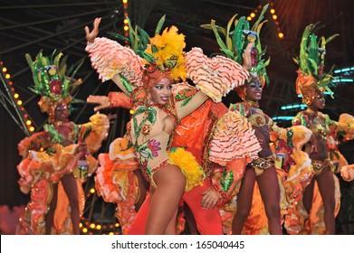 HAVANA, CUBA, MAY 7, 2009. Astonishing dancers performing in Tropicana in Havana, Cuba, on May 7, 2009.