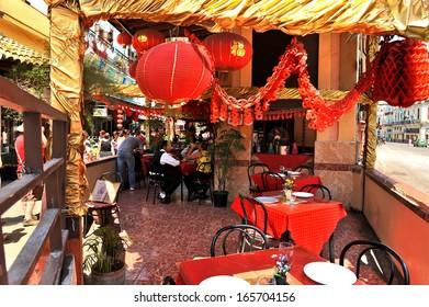 HAVANA, CUBA, MAY 9, 2009. A Chinese restaurant in Dragone'Â?Â?s street, in Havana'Â?Â?s Chinatown, in Havana, Cuba, on May 9th, 2009.