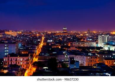 Havana, Cuba. Night view.