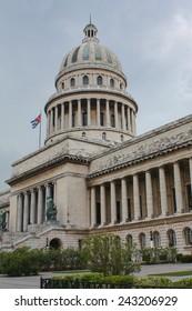 Havana, Cuba - November 12,2011: Cuba's parliament building Capitolium