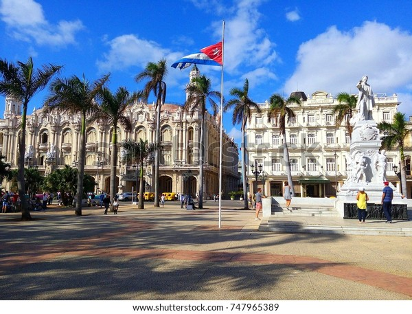 Havana Cuba November 2017parque Central Central Stock Photo (Edit
