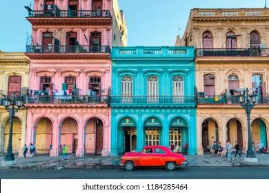 Havana, Cuba - October 12, 2017: Old Havana.