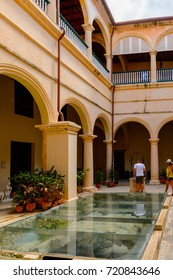 HAVANA, CUBA - SEP 5, 2017: Architecture of the Old Havana. UNESCO World Heritage