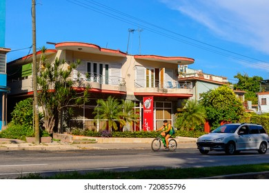 HAVANA, CUBA - SEP 5, 2017: Architecture of Miramar, area of Havana, the capital of Cuba
