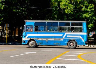 HAVANA, CUBA - SEP 5, 2017: Classic old car in Havana, the capital of Cuba
