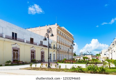Havana, Cuba - September 21, 2018: Architecture view from the old town in Havana City Cuba  - Serie Cuba Reportage