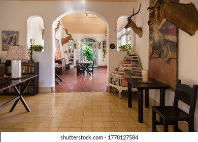 Havana, Cuba-October 08, 2016. Finca Vigia, Lookout Farm, a house in Havana city of Cuba which was the residence of Ernest Hemingway. The building was constructed in 1886.