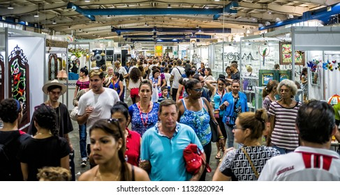 HAVANA - DECEMBER 16 2017 -  FIART, World Craftwork Fair, gather artists and exhibitors from Cuba and worldwide every december at PABEXPO (Exhibition´s Pavillion), Havana.