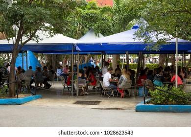 Havana, La Habana/Cuba - January 27, 2018: Streets of Havana - Coppelia Ice Cream Parlor