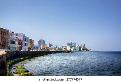 Havana Malecon - Havana's famous embankment promenade in Havana, Cuba