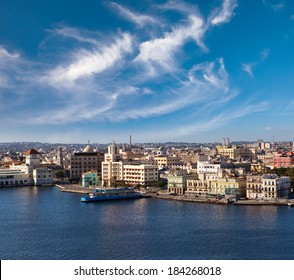 Havana. View of the old city through a bay