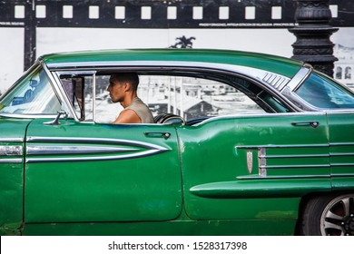 Havana/Cuba- August 18, 2015: Old Chevy from the 1950's found in Cuba. used mostly as taxis for tourists