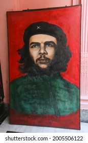 Havana,Cuba -August 23, 2018:Ernesto Che Guevara. Hand drawn portrait in sketch stile. Vector illustration isolated