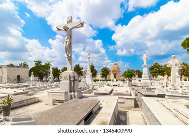 HAVANA,CUBA-MARCH 14,2019 :The Colon Cemetery a famous attraction in Havana.