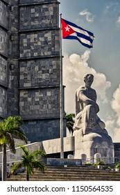 HAVANA,CUBA-MAY 10,2018 : Jose Marti memorial in the revolution square.