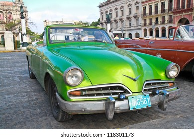 HAVANA-FEBRUARY 4:Classic citroen on  February 4, 2010 in Havana.Before a new law issued on October 2011,cubans could only trade old cars that were on the road before the revolution of 1959