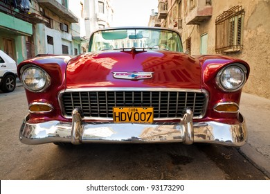 HAVANA-JANUARY 15:Classic Chevrolet January 15,2012 in Havana.Before a new law issued on October 2011,cubans could only trade old cars that were on the road before the revolution of 1959