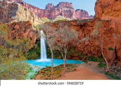 Havasu Falls is on the Havasupai Reservation in Supai, Arizona in the Southwest corner of the Grand Canyon.  I believe it to be the most beautiful of all of the falls in this magnificent area.