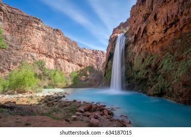 Havasu Falls Waterfall, Havasupai Indian Reservation, Grand Canyon, Arizona
