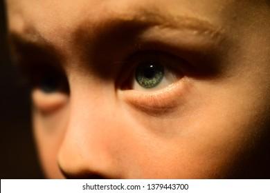 I have bad eyesight. Oculist prescribe corrective lens. Little boy with poor eye sight. Small boy wear contact lens. Eyesight checkup at oculist. Childhood health care. Keep an eye on your health.