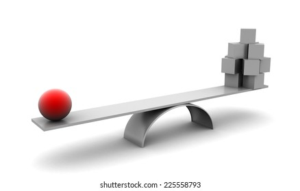 To have big weight don't need be big and many. Symbolise leadership, teamwork. Isolated on white.