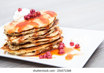 have delicious pancake for breakfast