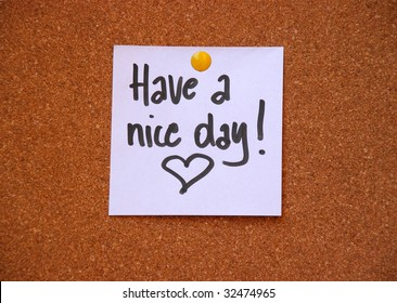 have a nice day message