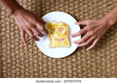 Have a snack of a happy toasty