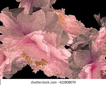 I have taken some of my photos of Peonies and manipulated them to bring out the magic of the flower, in the richness of its glowing color and graceful petals.