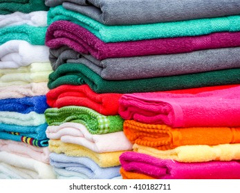 have towels in lots of sizes, styles and colors and towel is a piece of absorbent fabric or paper used for drying or wiping the body or a surface