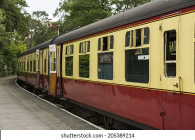 Haverthwaite - June 14, 2014 - Lakeside and Haverthwaite Railway in Haverthwaite, England, on June 14, 2014. L&H Railway is located in the picturesque Leven Valley at the southern end of Windermere.