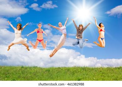 Having Fun Jumping Together