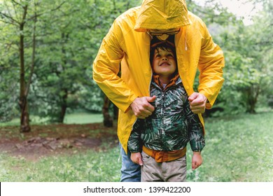 Having fun on a rainy day with my Dad