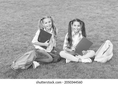 having rest after school day. spring holiday time. best friends forever. pass exam with success. funny and happy sisters. writing girlish diary. childhood memories. ready to study