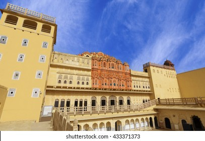 Hawa Mahal is a beautiful palace in Jaipur (Pink City), Rajasthan, also known as the Palace of Winds or Palace of the Breeze, constructed of red and pink sandstone built in 1799.