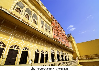 Hawa Mahal is a beautiful palace in Jaipur (Pink City), Rajasthan, also known as Palace of Winds or Palace of the Breeze, constructed of red and pink sandstone built in 1799