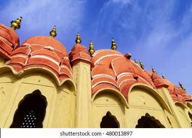 Hawa Mahal is a beautiful palace in Jaipur (Pink City), Rajasthan, also known as Palace of Winds, constructed of red and pink sandstone built in 1799 by Maharaja Sawai Pratap Singh