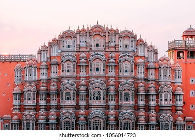 Hawa Mahal Palace. One of the famous place to visit in Jaipur. Well known as Palace of Wind or Windows Palace. JAIPUR, INDIA, (March, 10th, 2018)