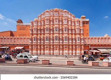 Hawa Mahal Palace or Palace of the Winds in Jaipur, Rajasthan state in India
