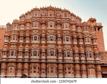 HAWA MAHAL ( palace of winds ),Hawa Mahal is a palace in Jaipur, India. It is constructed of red and pink sandstone. The structure was built in 1799 by Maharaja Sawai Pratap Singh