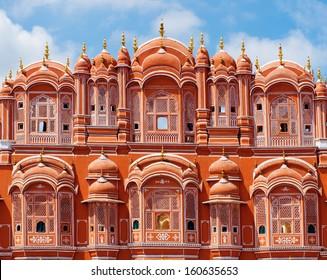 Hawa Mahal palace (Palace of the Winds) in Jaipur, Rajasthan , India