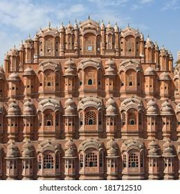 Hawa Mahal, the Palace of Winds, Jaipur, Rajasthan, India.