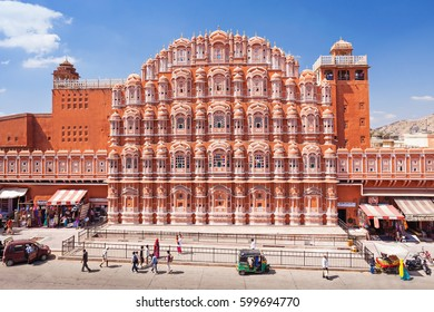 Hawa Mahal palace or Palace of the Winds in Jaipur city, India.