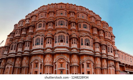 HAWA MAHAL-Hawa Mahal is a palace in Jaipur, India. It is constructed of red and pink sandstone.This monument has 953 Windows (jarokhas).The structure was built in 1799 by Maharaja Sawai Pratap Singh.