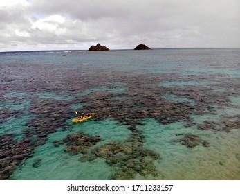 hawaii beach kayak ocean view