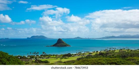 Hawaii beach with mokolii island