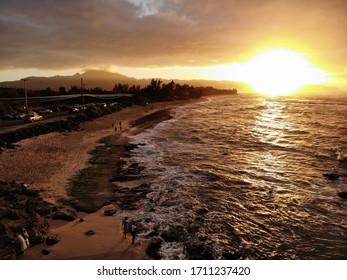 hawaii beach sunset sky view